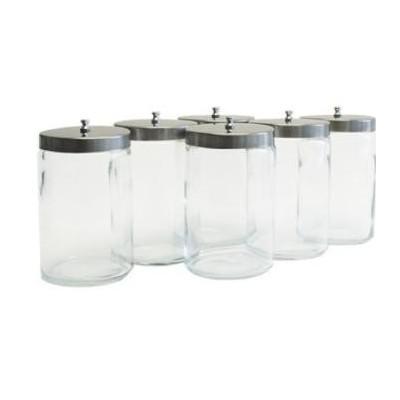 Glass Hospital Jar 6X6 W/Lid