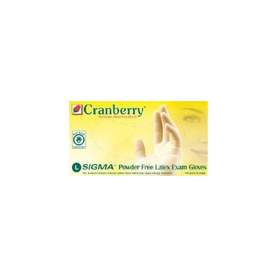 Cranberry SIGMA Powder-Free Latex Exam Gloves - 100/Box