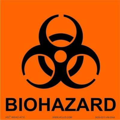 Label 4X4 (25) Biohazard