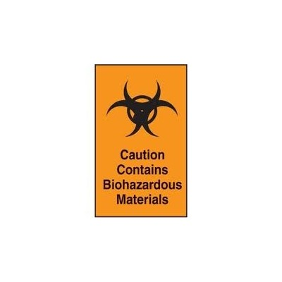 Label Biohazard Material (25)
