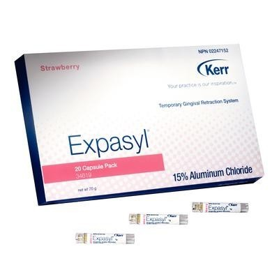 Expasyl Temporary Gingival Retraction System – Strawberry Refill, Capsules (1 g), 20/Pkg