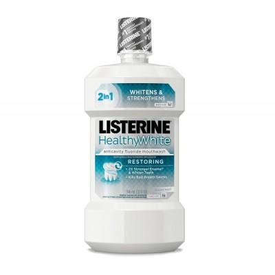 Listerine Resorting Healthy White 32Oz. (6Cs)