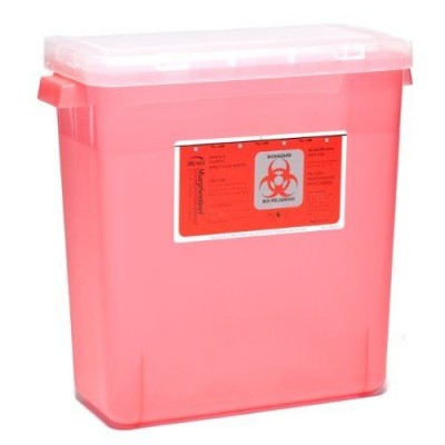 Sharps Container 3 Gal Slide-Top 12-1/2 X 13-1/2 X 6